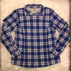 Duluth Trading Company Plaid Button Down | Large
